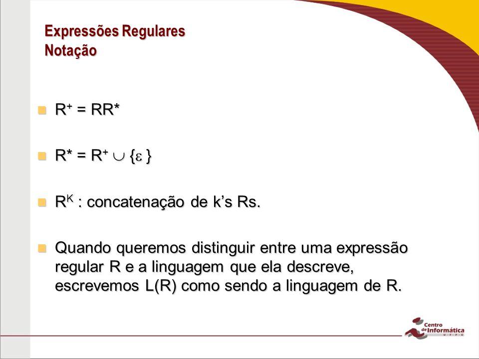 Expressões Regulares Notação