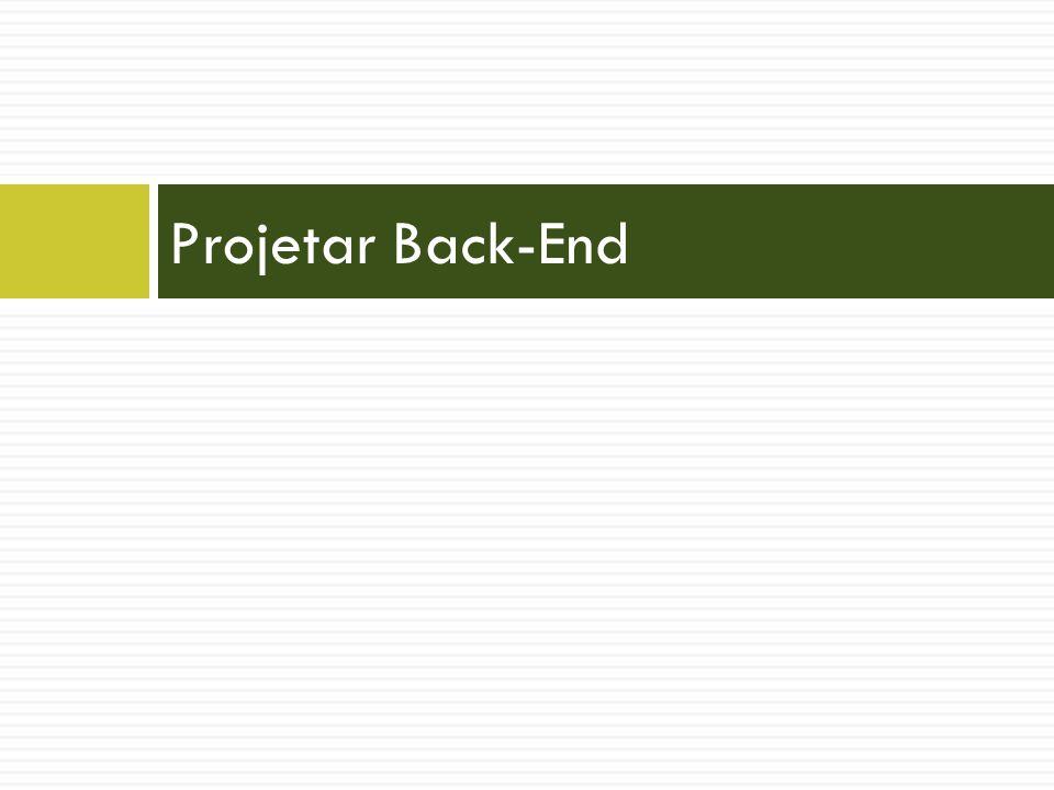 Projetar Back-End