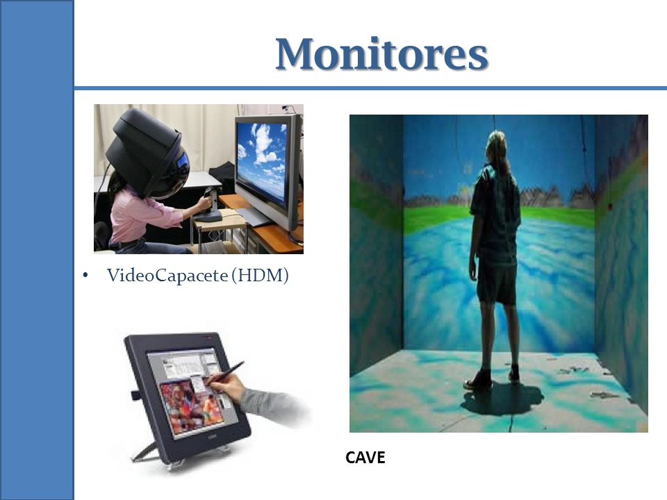 Monitores VideoCapacete (HDM) CAVE