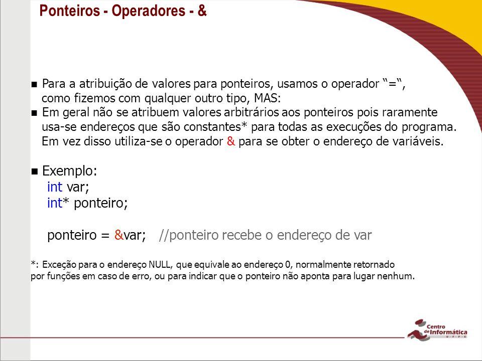 Ponteiros - Operadores - &