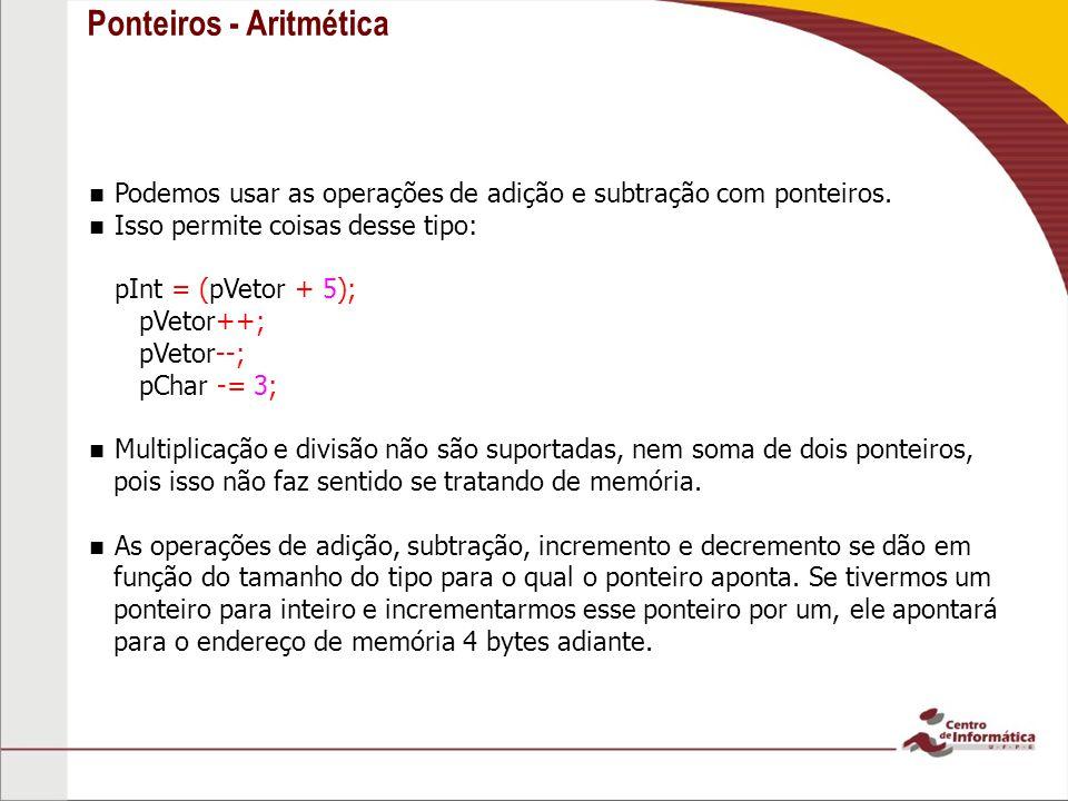 Ponteiros - Aritmética