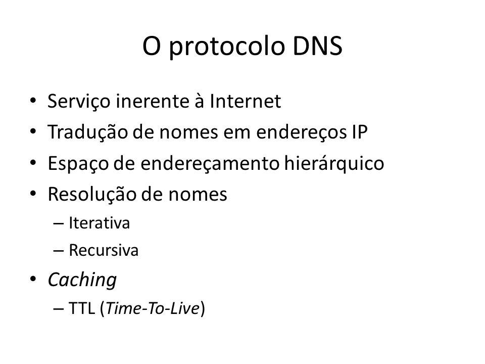 O protocolo DNS Serviço inerente à Internet