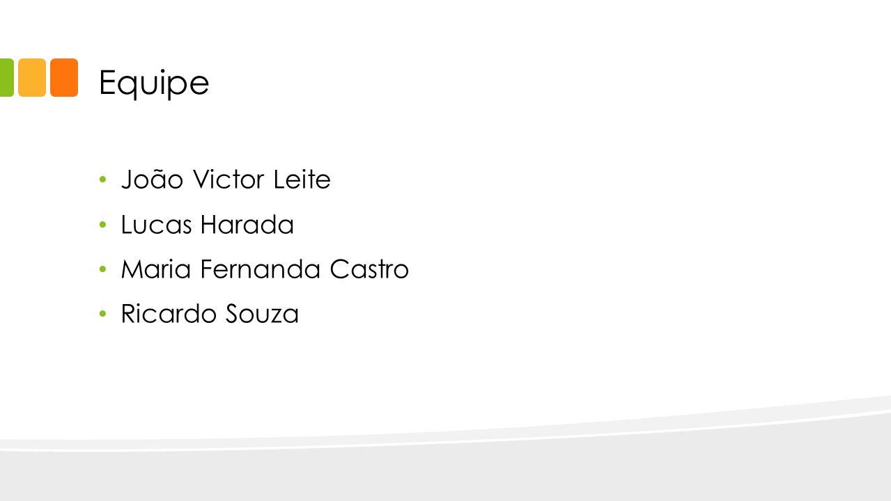 Equipe João Victor Leite Lucas Harada Maria Fernanda Castro