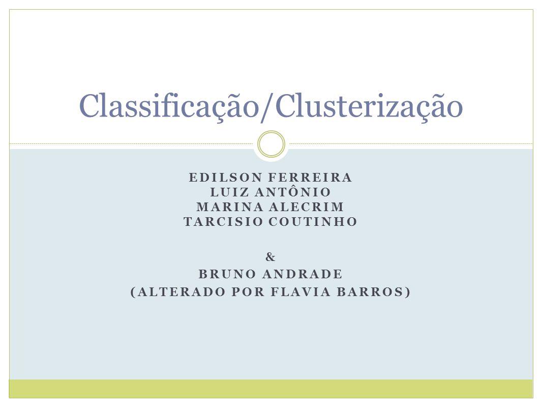 Classificação/Clusterização