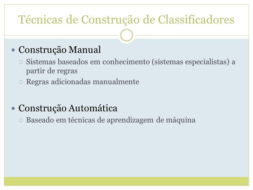 Técnicas de Construção de Classificadores