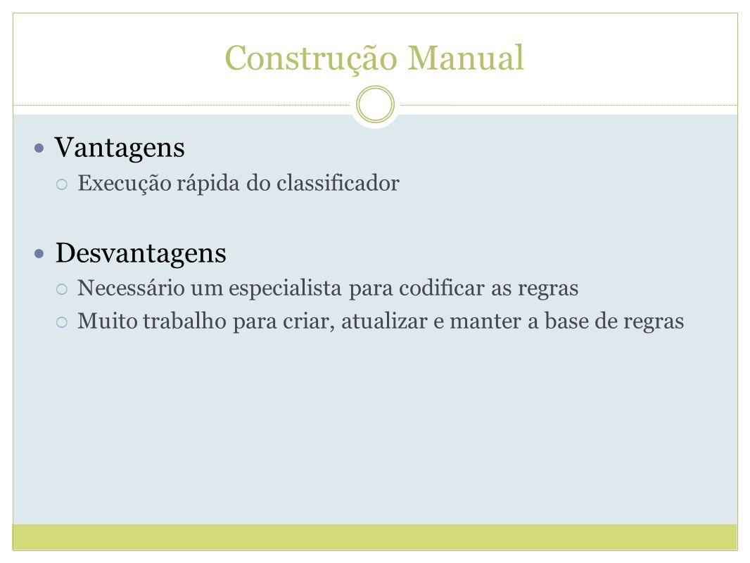 Construção Manual Vantagens Desvantagens