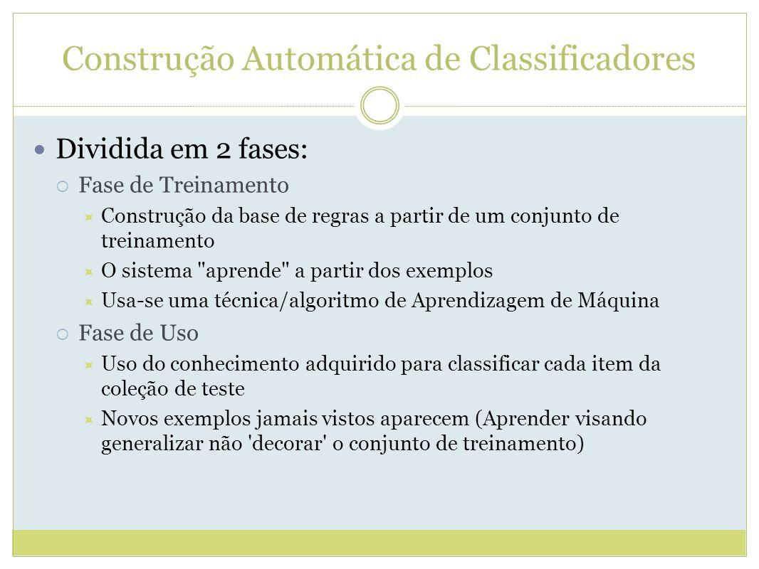 Construção Automática de Classificadores
