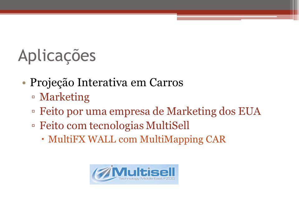 Aplicações Projeção Interativa em Carros Marketing