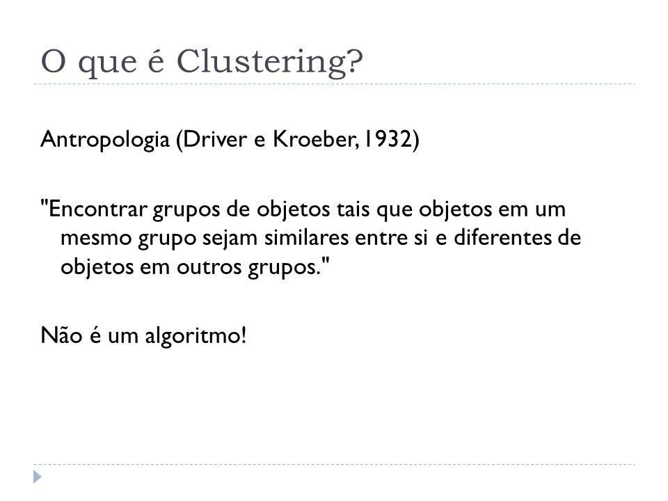 O que é Clustering Antropologia (Driver e Kroeber, 1932)