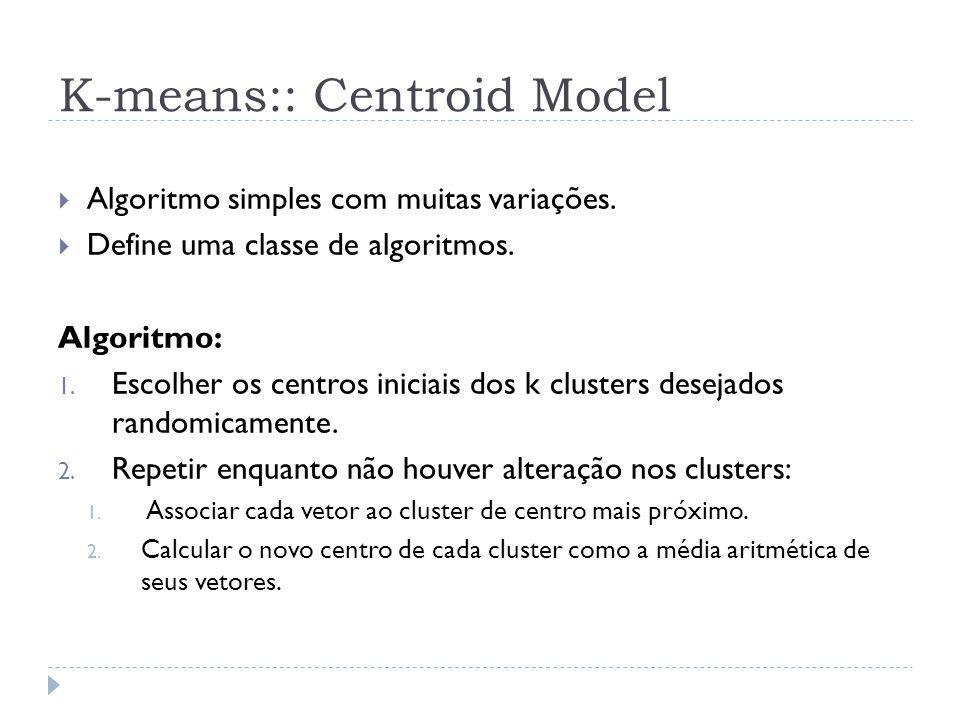 K-means:: Centroid Model