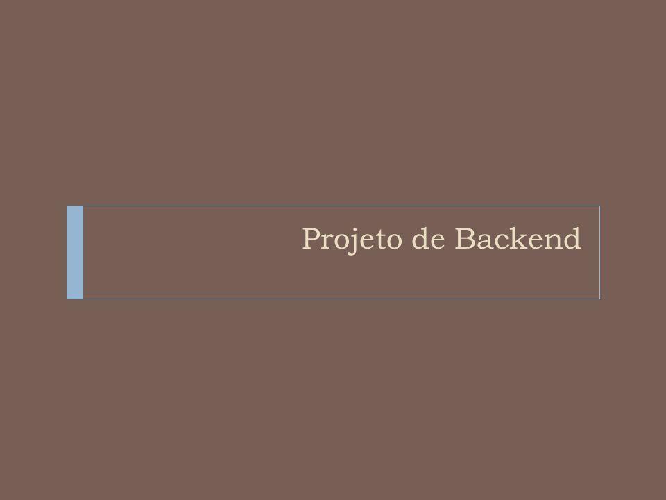 Projeto de Backend