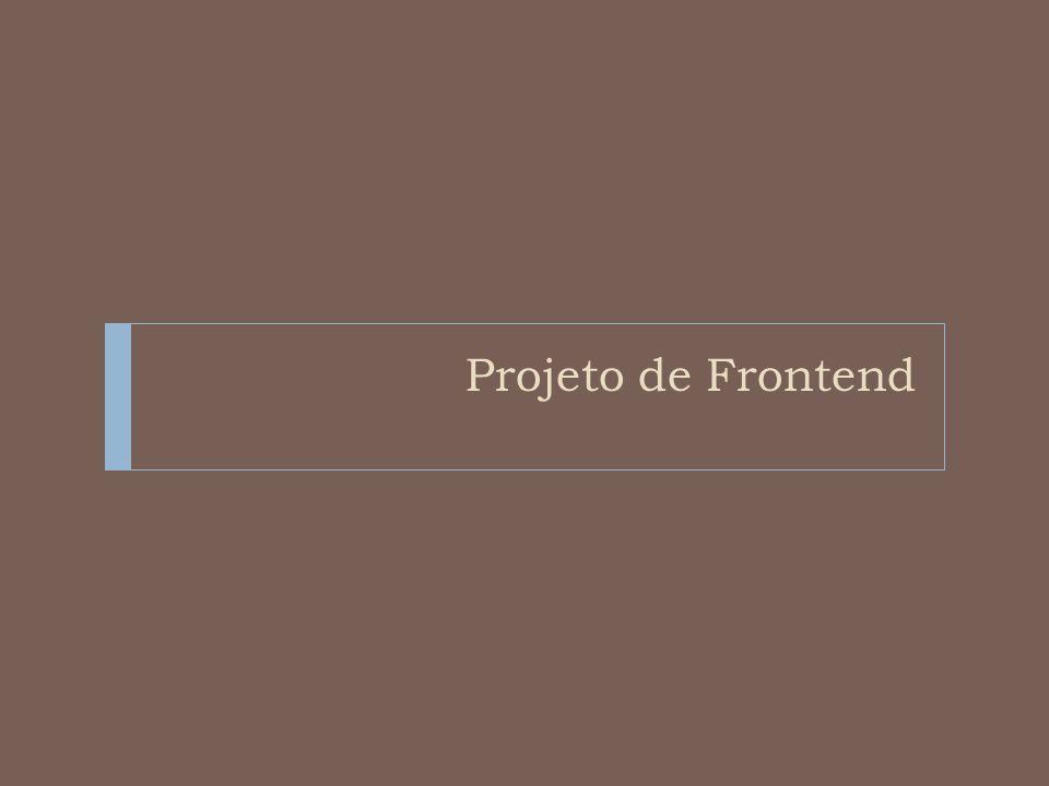 Projeto de Frontend