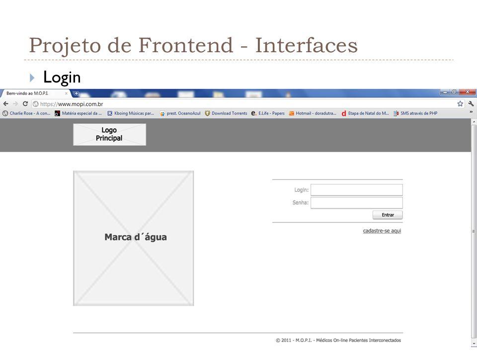 Projeto de Frontend - Interfaces