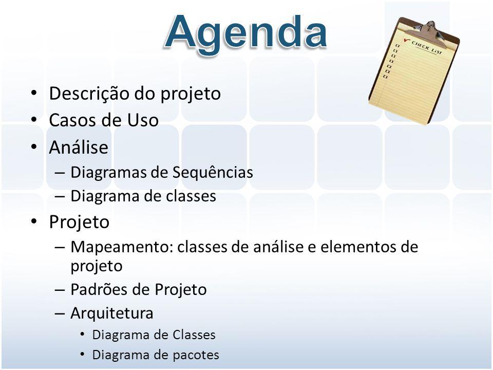 Agenda Descrição do projeto Casos de Uso Análise Projeto