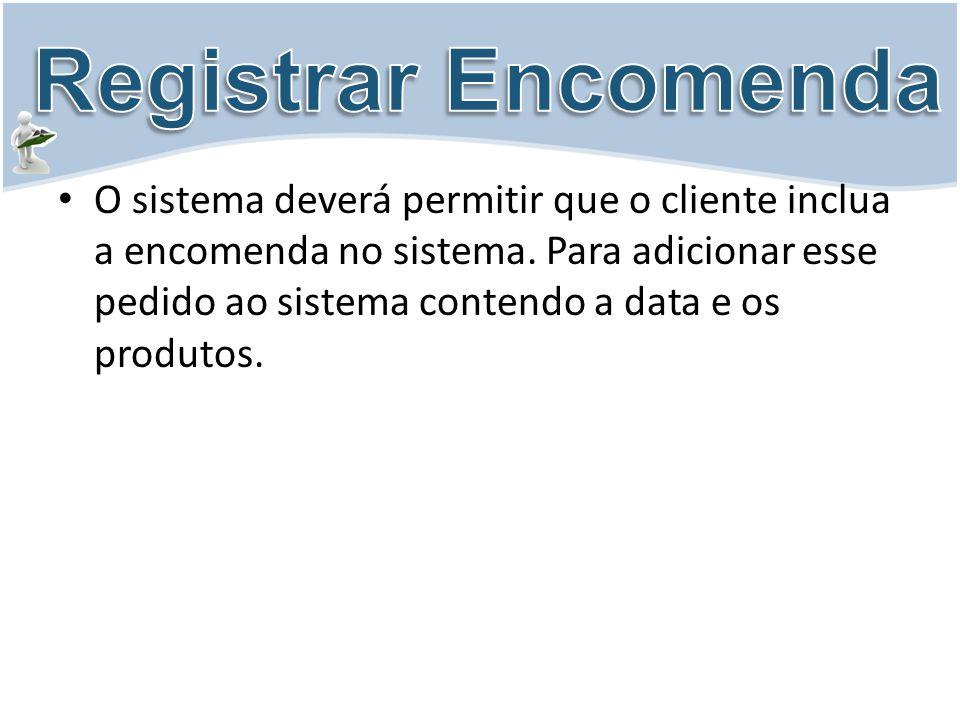 Registrar Encomenda