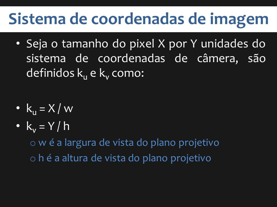 Sistema de coordenadas de imagem