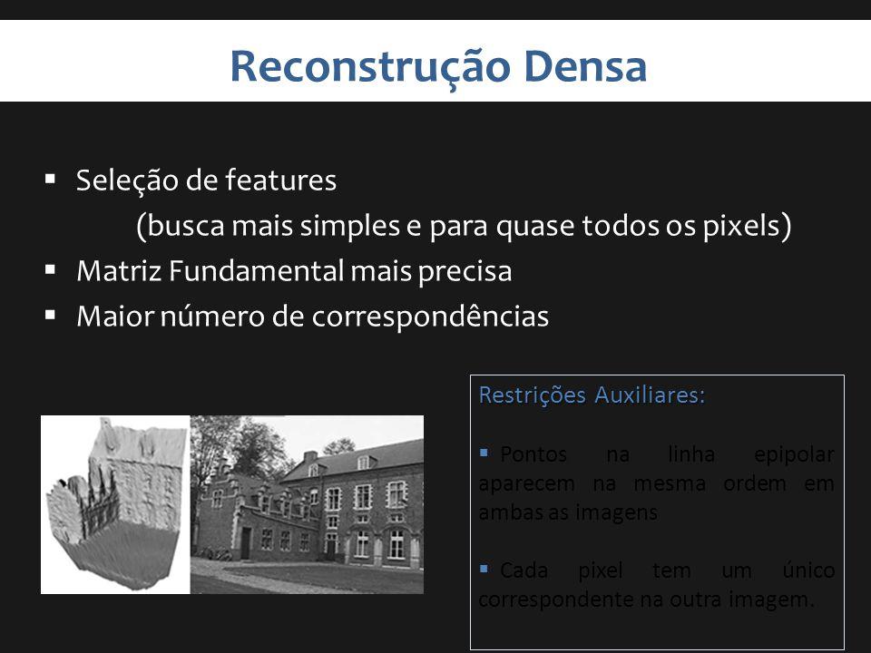 Reconstrução Densa Seleção de features