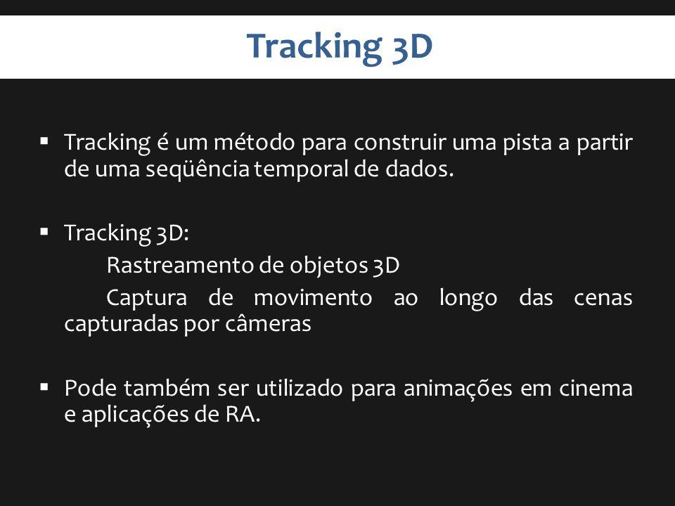 Tracking 3D Tracking é um método para construir uma pista a partir de uma seqüência temporal de dados.