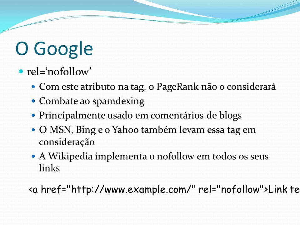 O Google rel='nofollow'