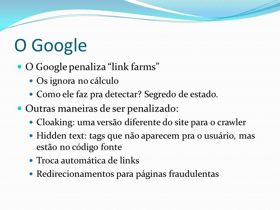 O Google O Google penaliza link farms