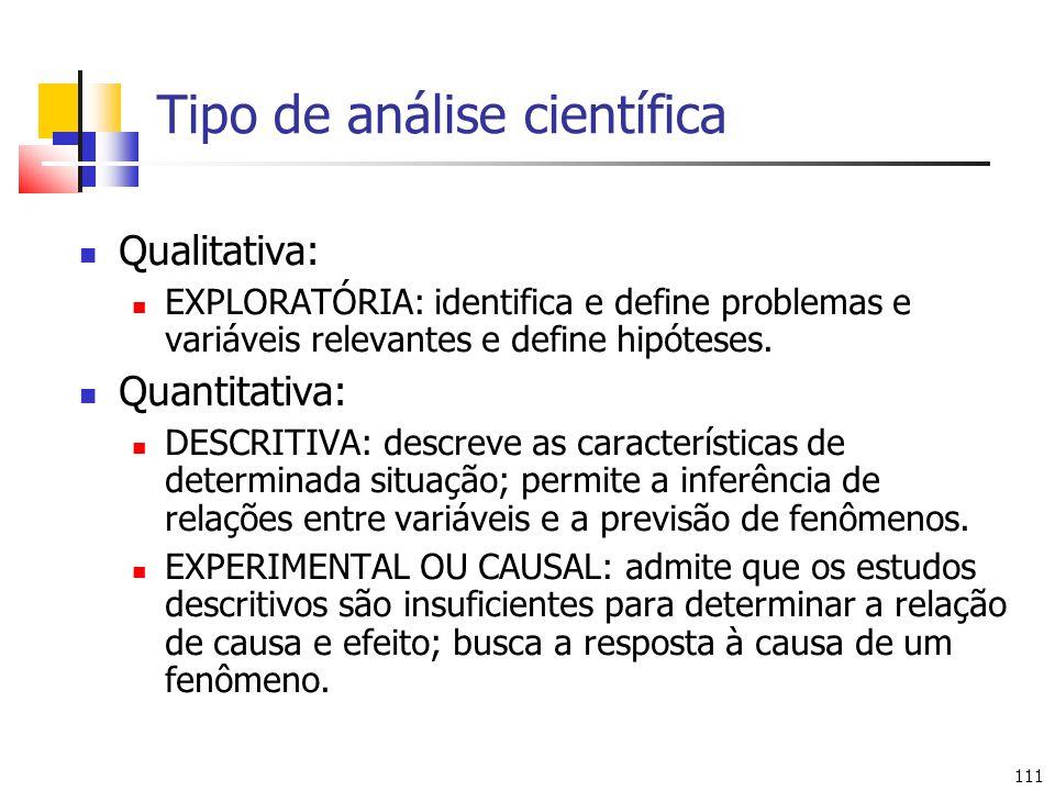 Tipo de análise científica