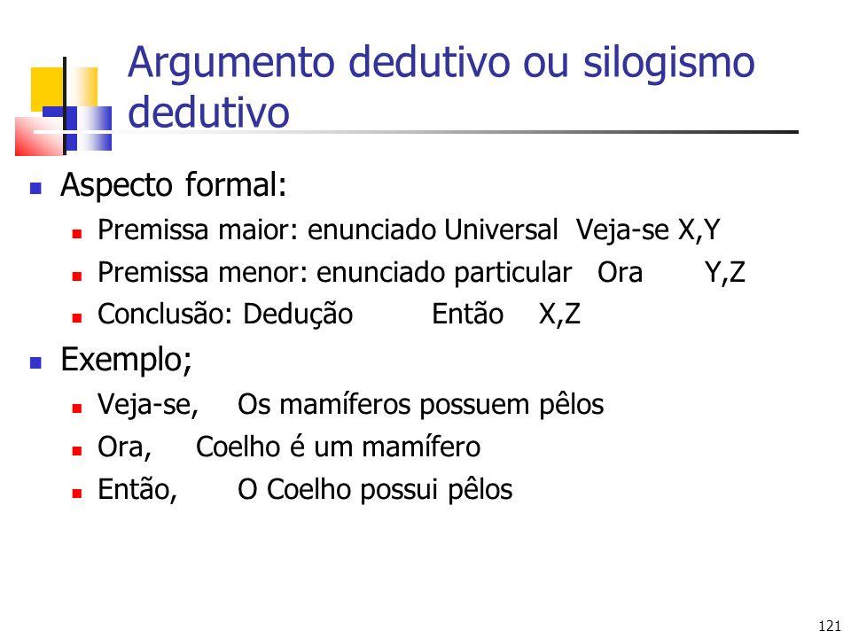Argumento dedutivo ou silogismo dedutivo