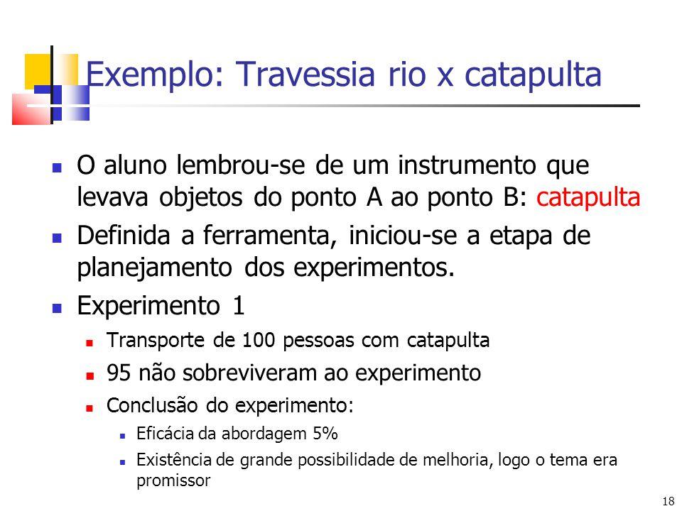 Exemplo: Travessia rio x catapulta