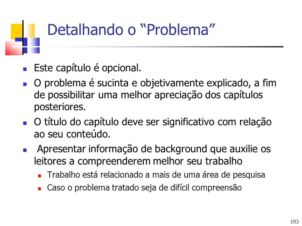 Detalhando o Problema