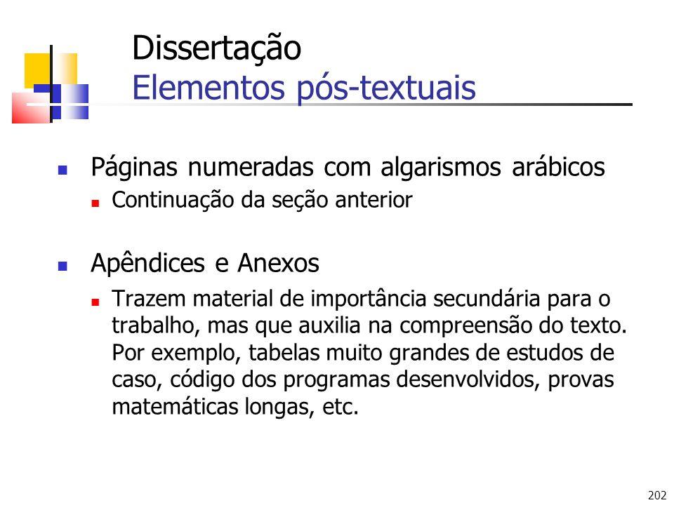 Dissertação Elementos pós-textuais
