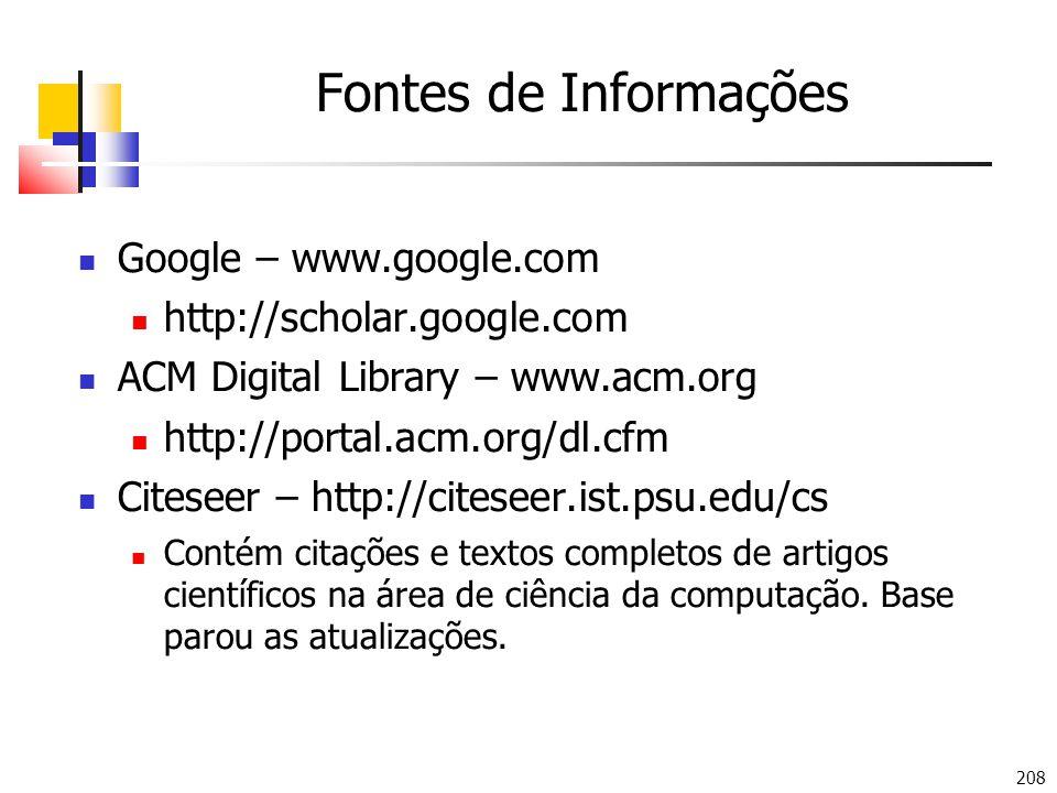 Fontes de Informações Google – www.google.com