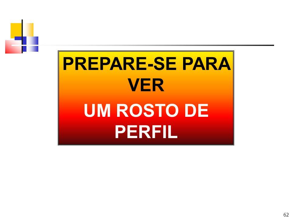 PREPARE-SE PARA VER UM ROSTO DE PERFIL