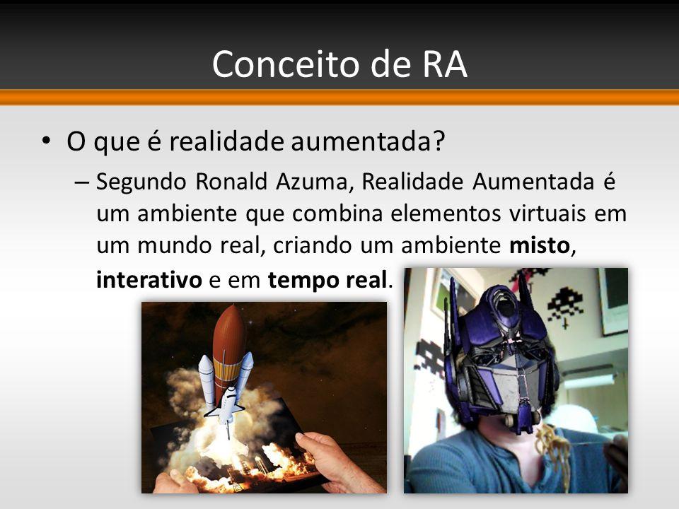 Conceito de RA O que é realidade aumentada