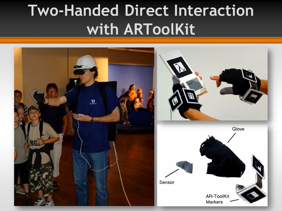 Two-Handed Direct Interaction with ARToolKit