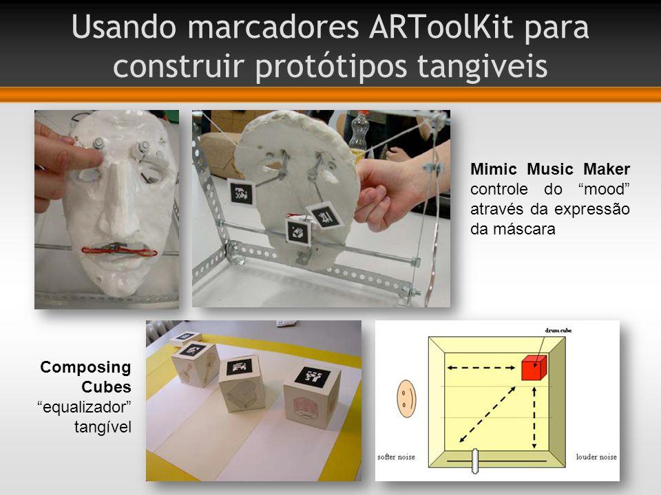 Usando marcadores ARToolKit para construir protótipos tangiveis