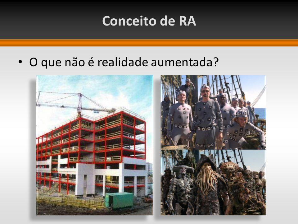 Conceito de RA O que não é realidade aumentada