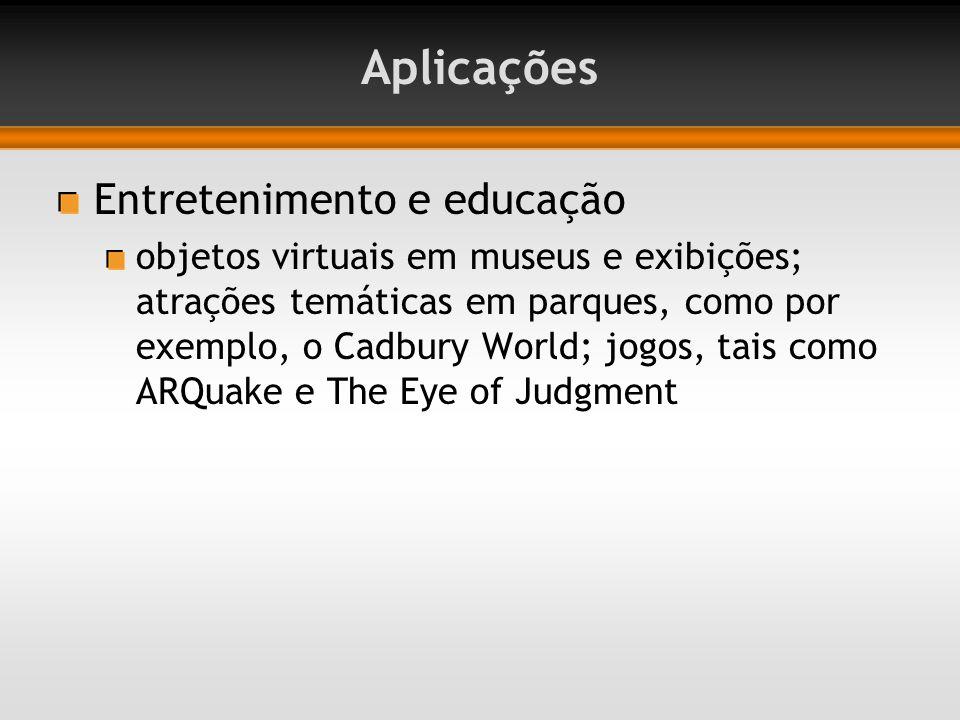 Aplicações Entretenimento e educação