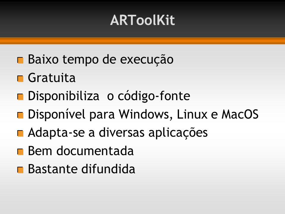 ARToolKit Baixo tempo de execução Gratuita
