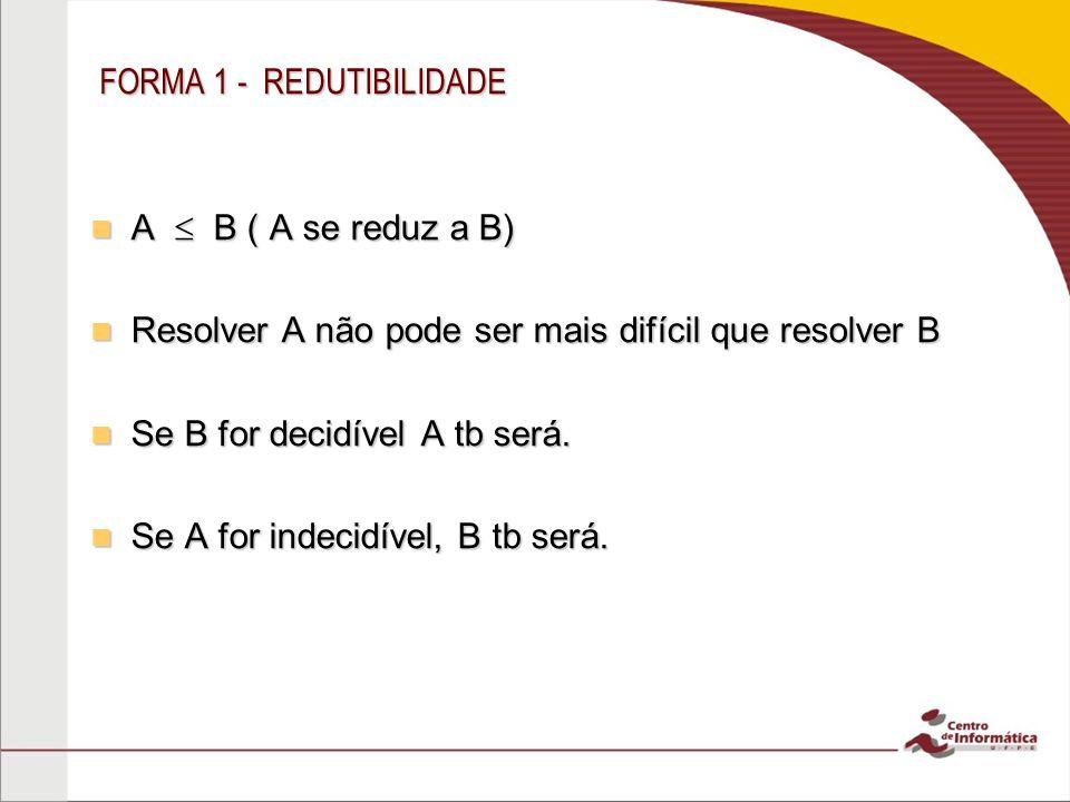 FORMA 1 - REDUTIBILIDADE