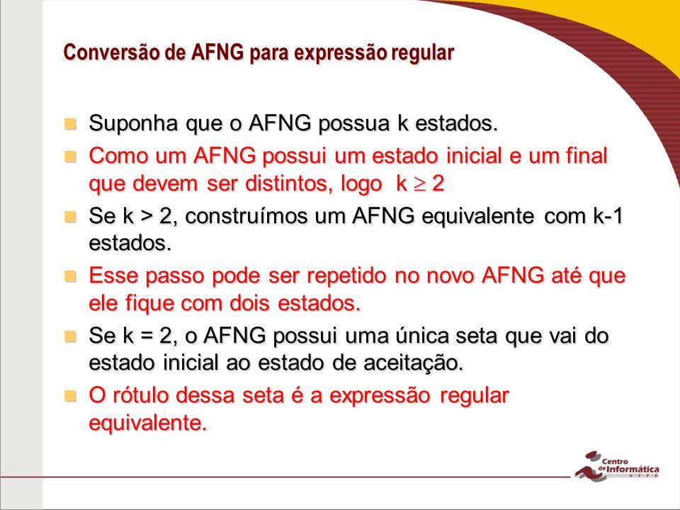 Conversão de AFNG para expressão regular