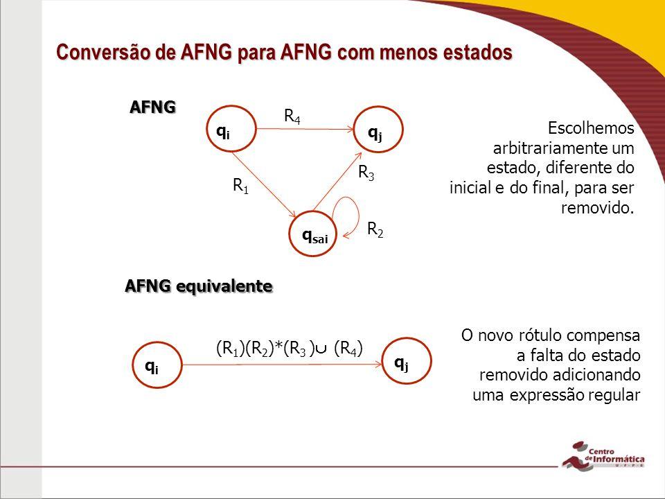 Conversão de AFNG para AFNG com menos estados