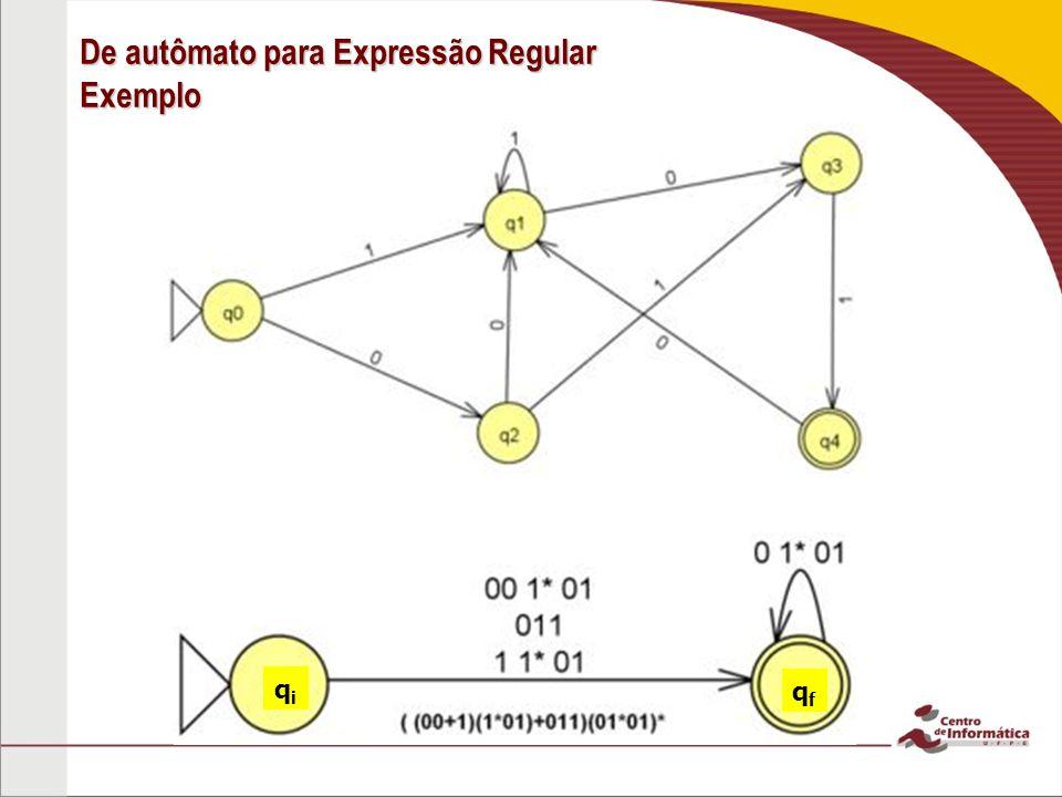 De autômato para Expressão Regular Exemplo