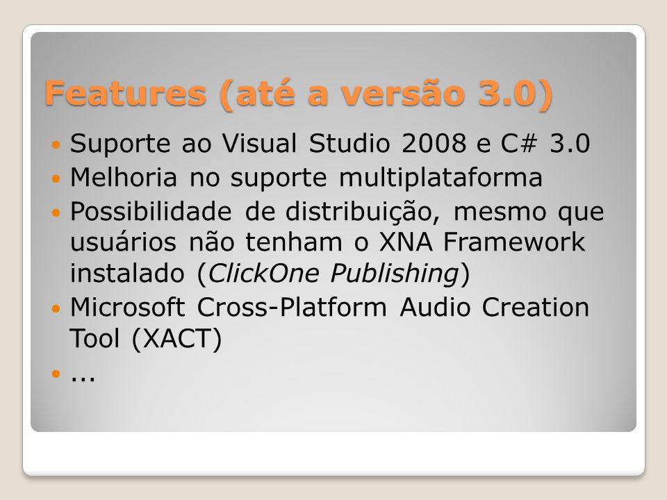 Features (até a versão 3.0)