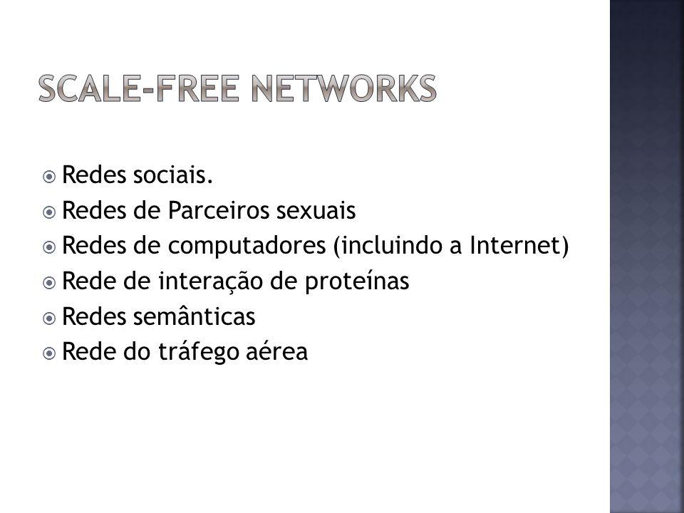 SCALE-free Networks Redes sociais. Redes de Parceiros sexuais