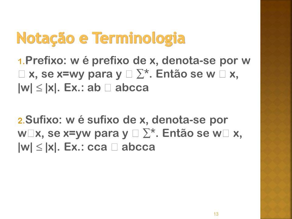 Notação e Terminologia