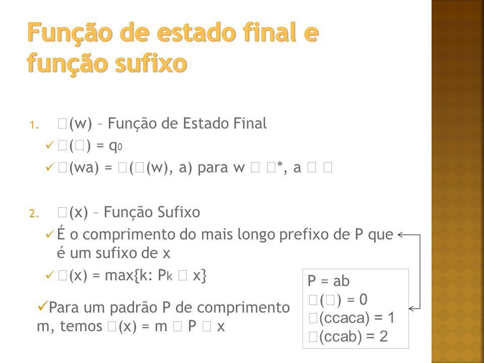 Função de estado final e função sufixo