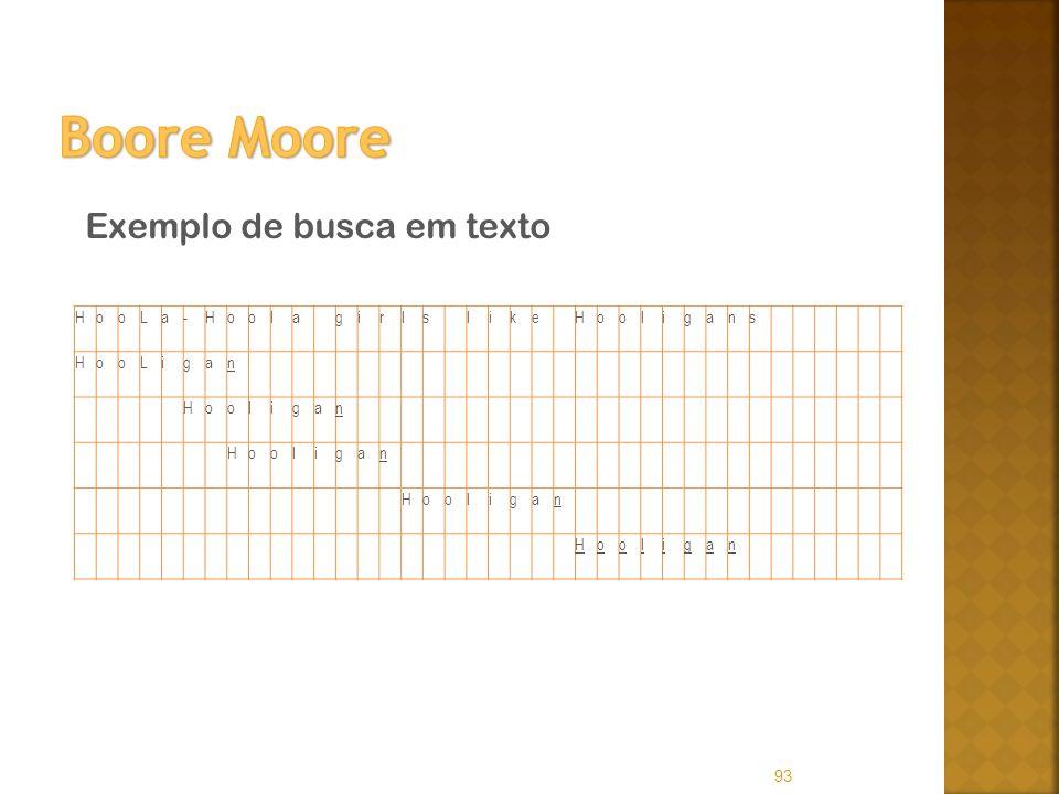 Boore Moore Exemplo de busca em texto H o L a - l g i r s k e n
