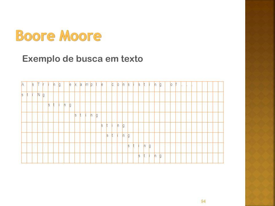 Boore Moore Exemplo de busca em texto A s T r i n g e x a m p l c o t