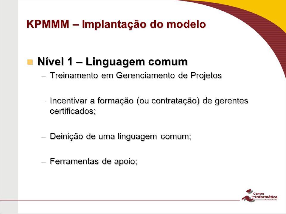 KPMMM – Implantação do modelo