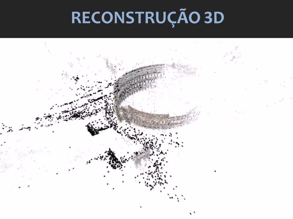 RECONSTRUÇÃO 3D Video em: http://www.youtube.com/watch v=kxtQqYLRaSQ