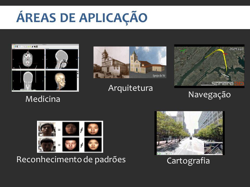 ÁREAS DE APLICAÇÃO Arquitetura Navegação Medicina